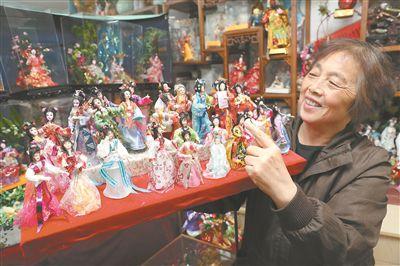南京居民制作的绢人入选非物质文化遗产项目