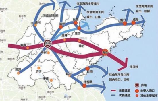 濟南出海口交通通道規劃圖