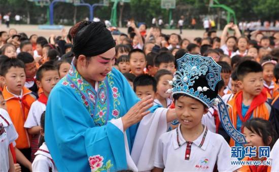 (教育)(1)河北沧州:戏曲文化进校园