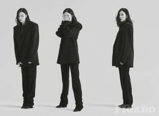 宋佳登杂志大片 黑白光影演绎多面时尚姿态