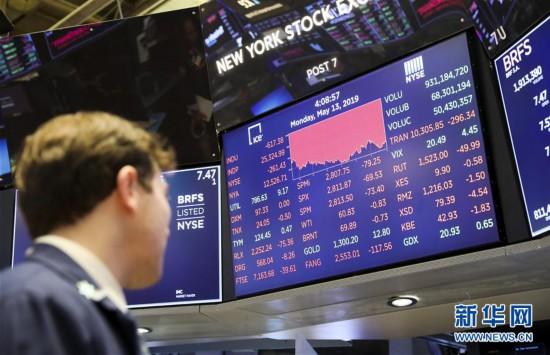 (国际)(1)纽约股市三大股指13日大跌