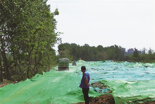 沛县汉润路施工工地整改完成 裸土已全部覆盖