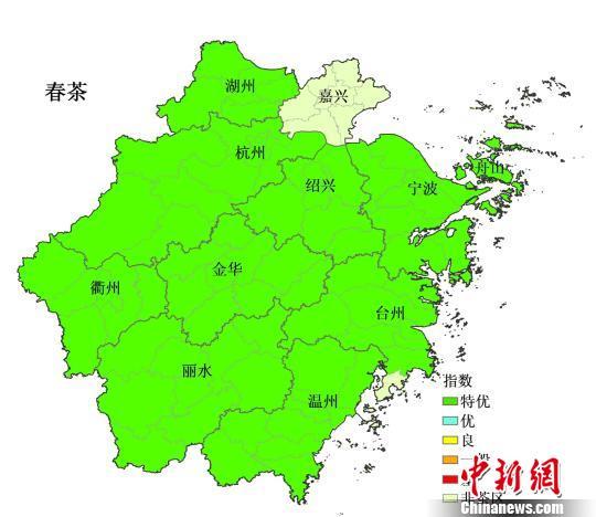 2019年浙江茶叶气象指数发布 春茶等级为特优
