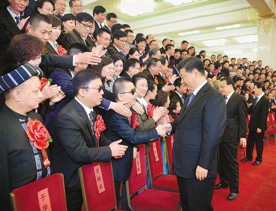 习近平会见第六次全国自强模范暨助残先进表彰大会代表 李克强王沪宁参加会见