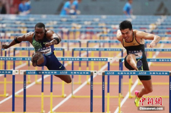 钻石联赛上海站男子110米栏谢文骏0.05秒之差痛失冠军
