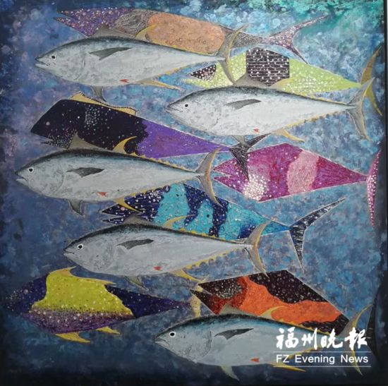 62件综合材料绘画作品在福清展出 持续至6月2日