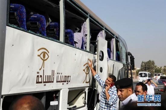 埃及一旅游巴士遭爆炸袭击图片 58291 550x366