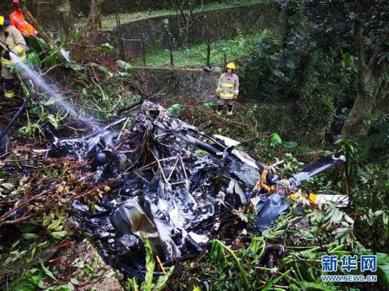 (XHDW)香港一架直升机坠毁 已造成一人死亡