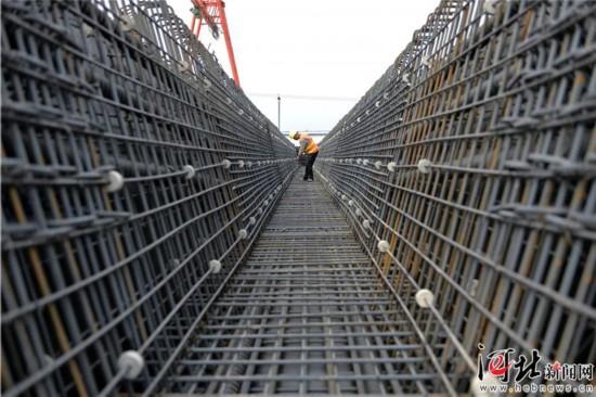 北京新�C�霰本�高速公路廊坊段施工正酣