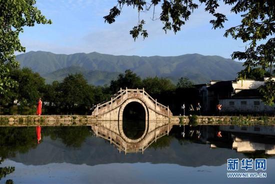 (美丽中国)(1)晨之宏村 景色迷人