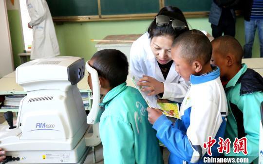 西藏扶贫公益进校园日喀则农区小学生获免费检查配镜