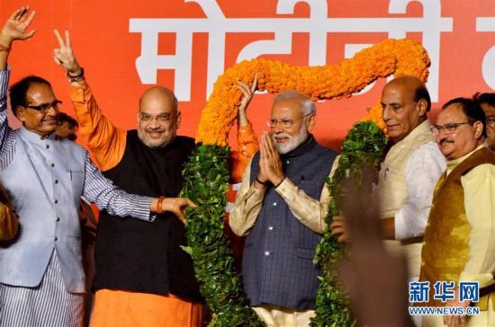 印度人民党在全国大选中过获得半数席位