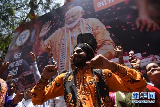 (国际)(1)印度人民党在大选中得票数领先