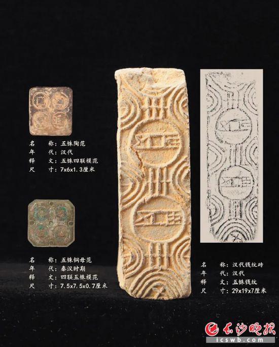 汉代钱纹砖。