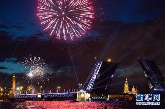 俄罗斯圣彼得堡庆祝建城316周年