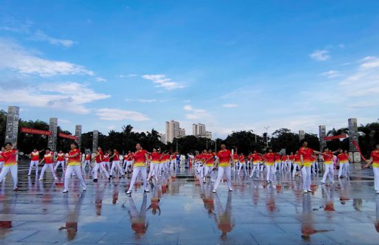 2019万宁老年人太极拳健身大联动活动成功举办
