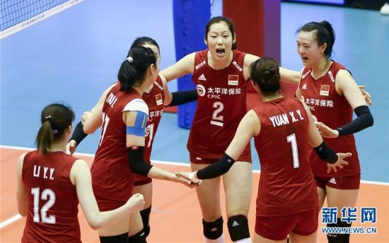 (体育)(1)排球――世界女子联赛澳门站:中国胜泰国