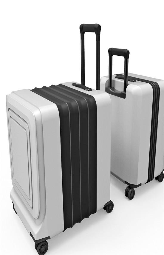 杭职院学生发明旅行神器 一个行李箱瞬间变成两个大