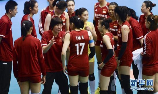(体育)(11)排球――世界女子联赛澳门站:中国胜泰国