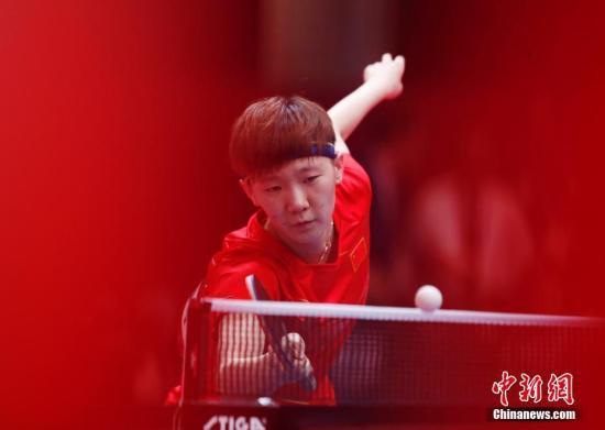 资料图:中国选手王曼昱。<a target='_blank'  data-cke-saved-href='http://www.chinanews.com/' href='http://www.chinanews.com/'><p  align=