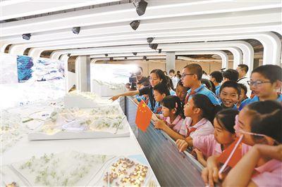 冬奥展示中心首次对中小学生开放