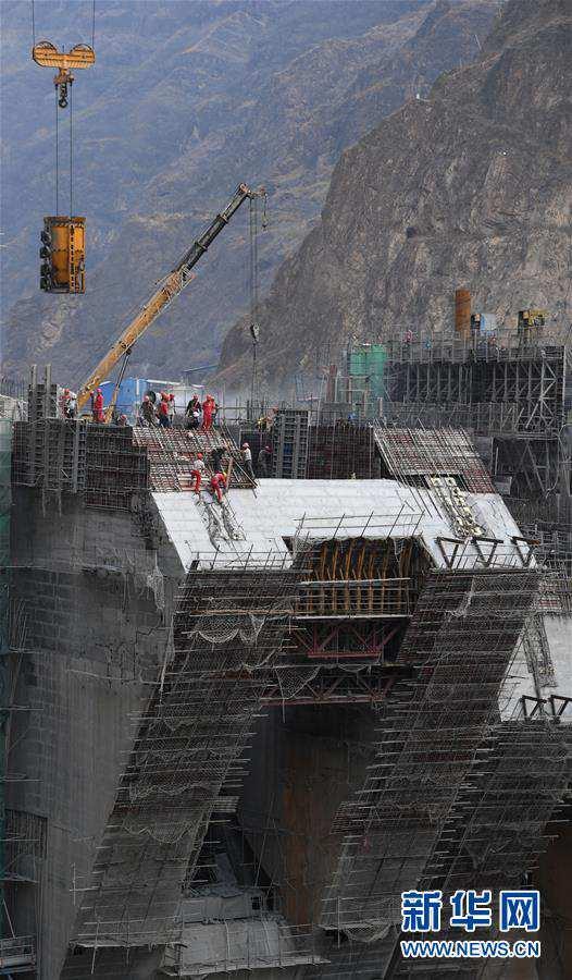 (壯麗70年·奮斗新時代)(2)烏東德水電站建設如火如荼