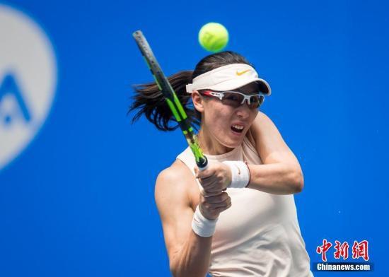 资料图:中国选手郑赛赛在比赛中。<a target='_blank'  data-cke-saved-href='http://www.chinanews.com/' href='http://www.chinanews.com/'><p  align=