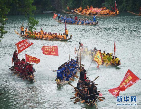 #(文化)(2)贵州铜仁:龙舟巡游迎端午
