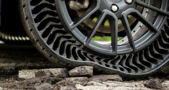 通用与米其林合作 研发测试无气防刺破轮胎