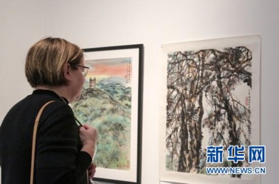 澳大利亚迪肯大学举行中国画展