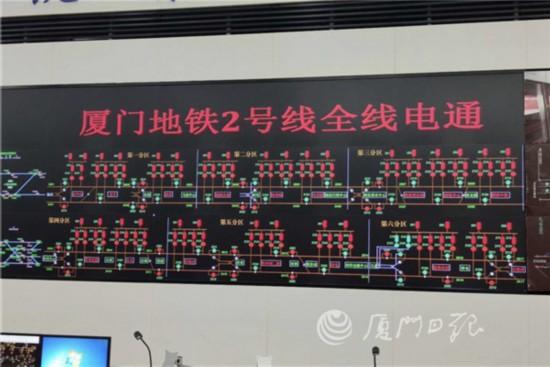 """又一重要節點!廈門地鐵2號線今日全線""""電通""""!"""