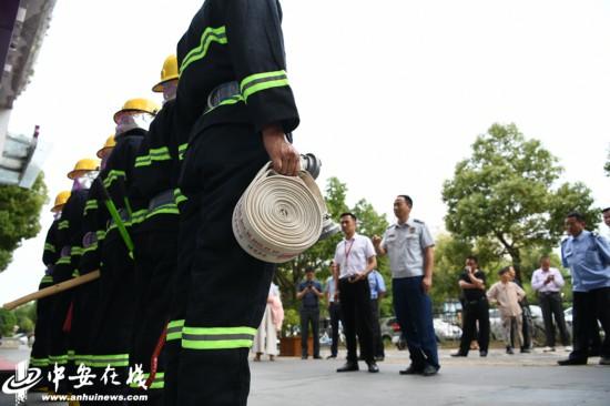合肥:社区微型消防站 达到灭火现场按秒算