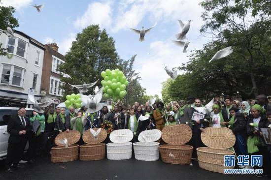 (国际)(1)伦敦举行格伦费尔大火两周年纪念活动