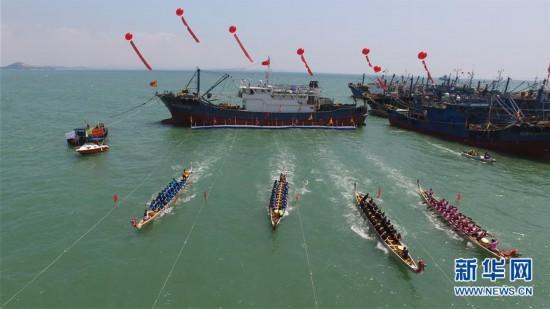 #(社会)(1)福建石狮:海上休渔活动多