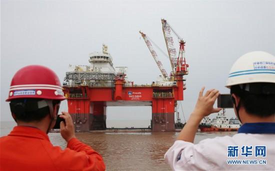 """#(科技)(1)半潛式海洋生活服務平台""""高德4號""""出海試航"""