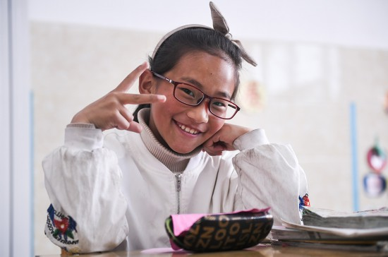 """關注學生視力 扎西旺姆的""""第一副眼鏡"""""""