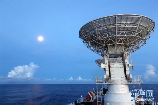(图文互动)(4)远望3号船穿越赤道驶向测控任务海域