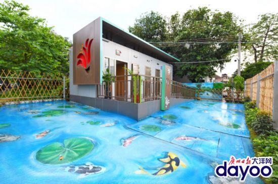 上個公廁,仿佛置身童話世界!廣州荔灣的這些公廁顏值超高