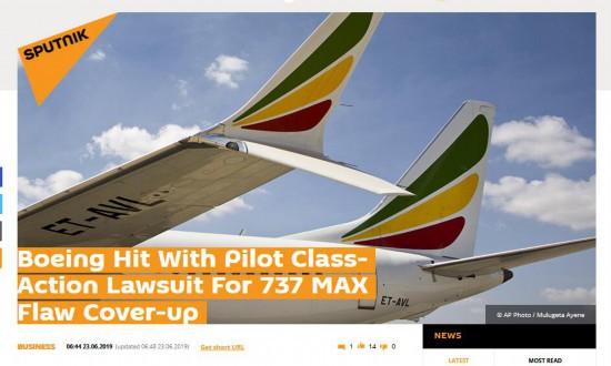 400多名737MAX�w行�T告波音掩�w�O�缺陷
