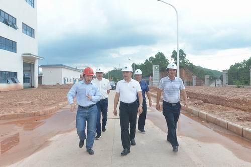 博白县委副书记莫景彪率队调研博白县垃圾焚烧发电项目