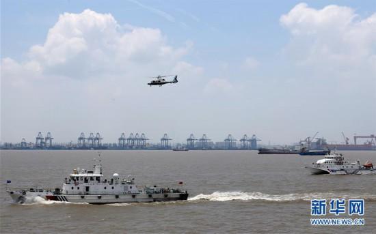 (社会)(5)上海举行国际邮轮海上救生应急演习
