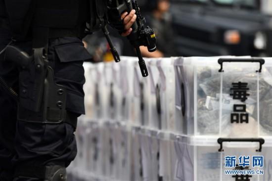 (法治)(1)天津举行集中销毁毒品活动