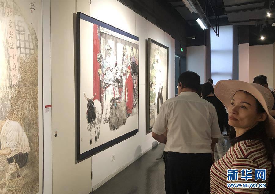 (文化)(2)天津市美术作品展览开幕