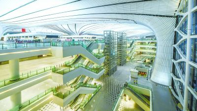 大兴国际机场如期竣工 探访世界最大单体航站楼