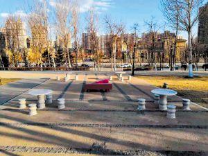 哈尔滨:公园广场将新增200套棋