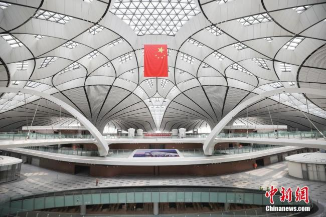 Construction completed at Beijing's massive new airport