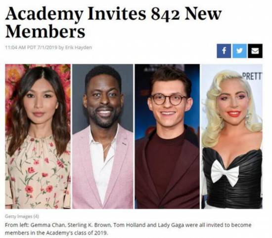 奥斯卡宣布新增842名评委 Gaga阿黛尔荷兰弟在列