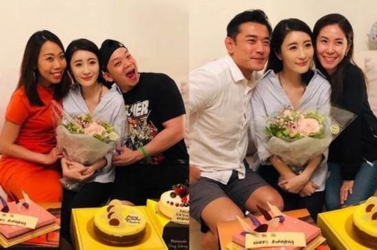 刘恺威出席好友生日会 笑容满脸 精神饱满