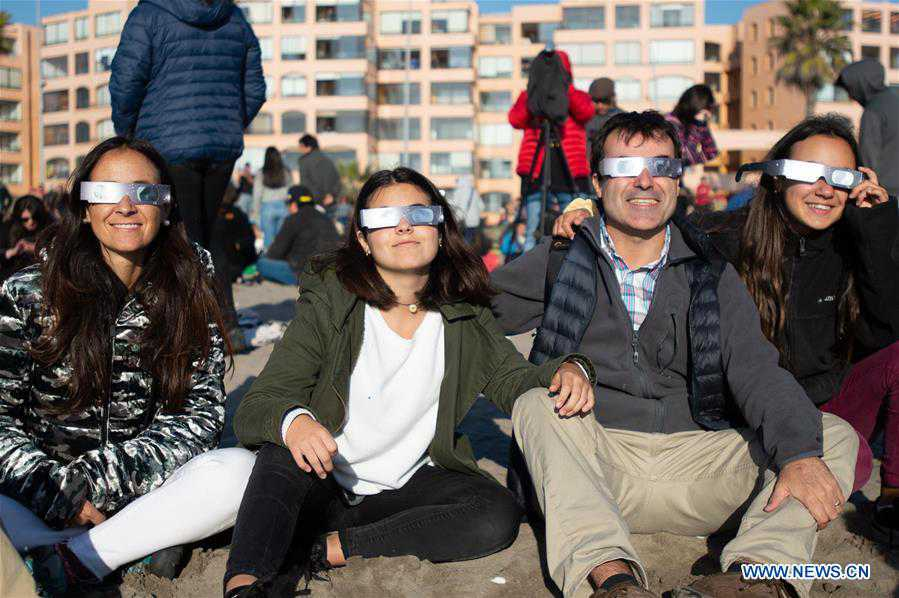 Solar eclipse throws parts of northern Chile into total darkness