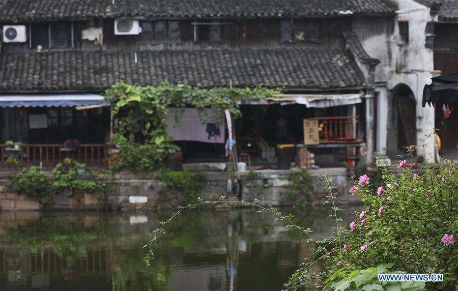 Scenery of Xinshi Town in E China's Zhejiang